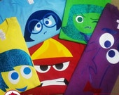 Inside Out / Intensamente Tshirt / Joy Fear Anger Disgust and Sadness