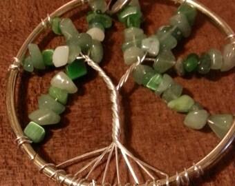 Tree of life suncatcher. Green