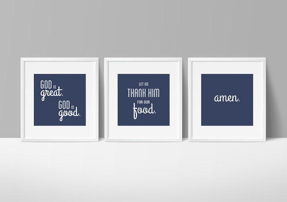 God is great prayer printable set 8x8 digital by inthehallway for 8x8 dining room