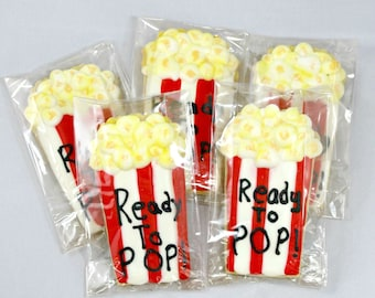 Ready To Pop Popcorn Box Themed Cookies