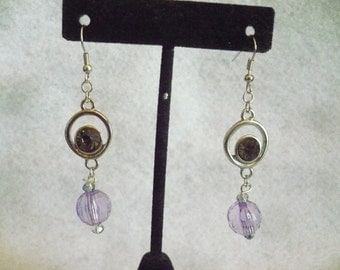 Purple paradigm earrings