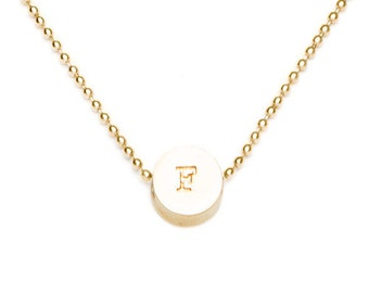 F initial bead necklace
