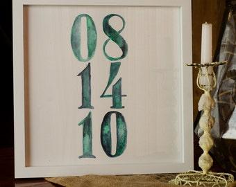 custom anniversary/wedding watercolor print