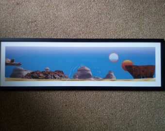 Star Wars, Tatooine Planet Tusken Raiders & Sandcrawler, Print, Small