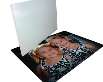 Photo Embellished Glass Cutting Board.