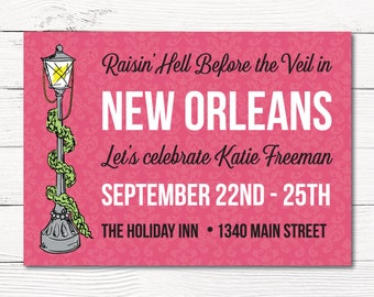 New Orleans Bachelorette Invitation