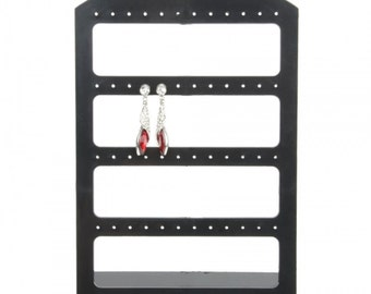 48 Holes Earrings Organizer Display Stand Medium Size Black....Free Shipping in US!
