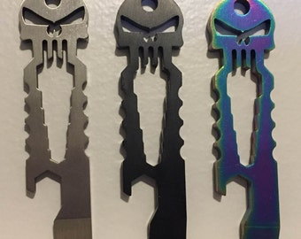 Punisher Skull EDC Tool (Bottle Opener, Pry Tool, Nail Puller, Hex Tool) - Everyday Carry from Tactical Panda