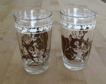 Swanky Swigs Hazel Atlas child's glass set of two