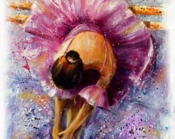 Decorative Art Ballerina's Resting Oil Painting figure Impressionism Wall decor Wall art wall hangings