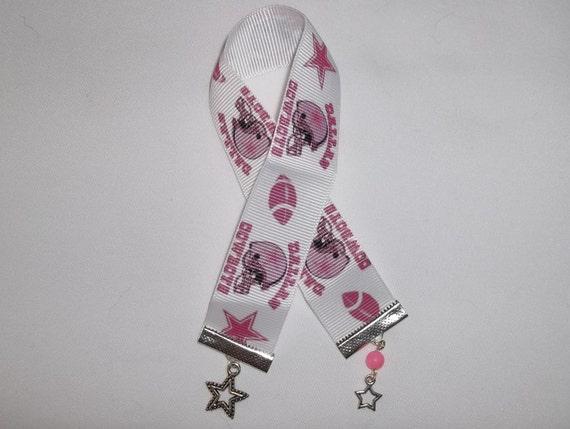 Dallas Cowboys Logo Pink Hand Crafted Bookmark