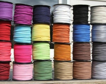 20 yards of suede cord, 5 pieces of 4 yard various color suede cords