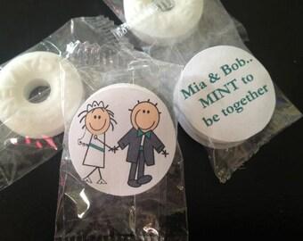Mint to be wedding favor, Wedding mints, personalized mints, lifesaver, bridal shower favors, engagements favors personalized wedding favors