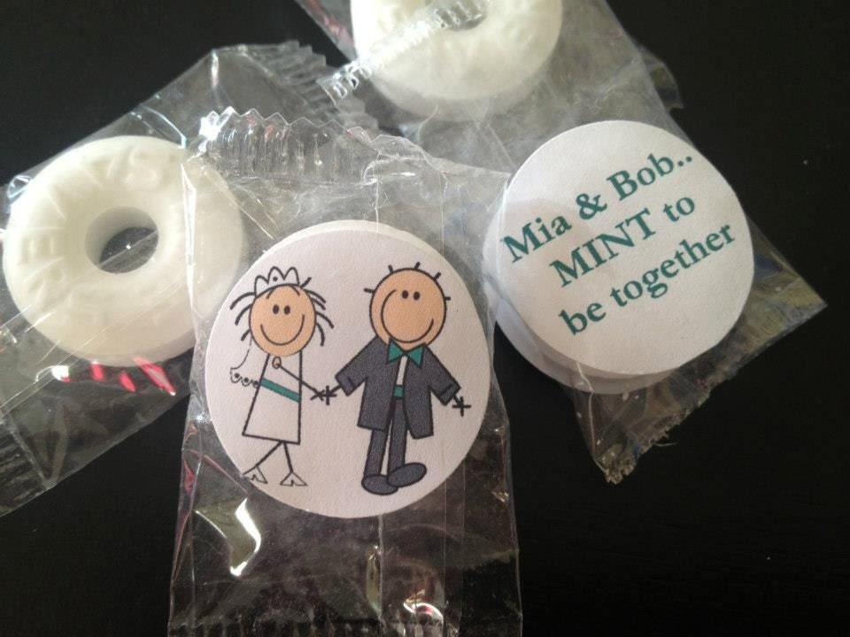 Mint To Be Wedding Favor Wedding Mints Personalized Mints