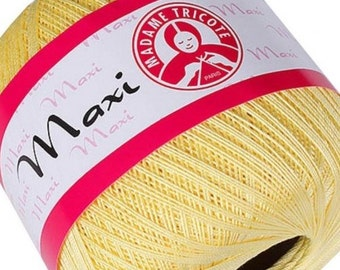MAXI Madame Tricote Paris 100% mercerized cotton yarn for crochet and knitting 100g - 565m