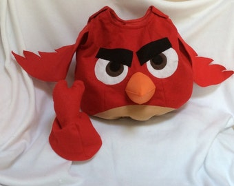 Angry Bird Red Costume, kids Halloween costume, baby costume, adult costume