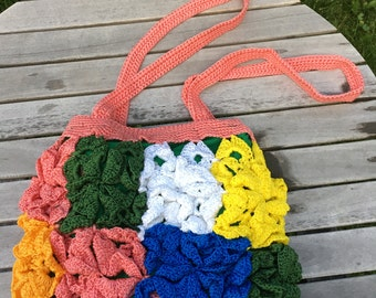 Crochet Bag, Colorful and big bag