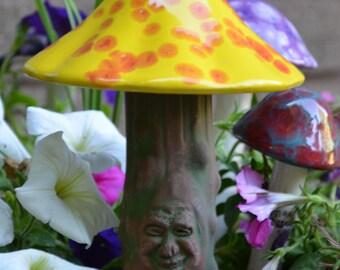 Fairy Garden Accessory, The Mushroom Man, Pot Decoration, Funny