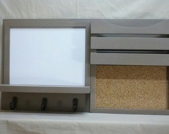 Dry Erase Message Center - Cork Board - Entryway Décor - Kitchen Décor - Office Décor - Message Center