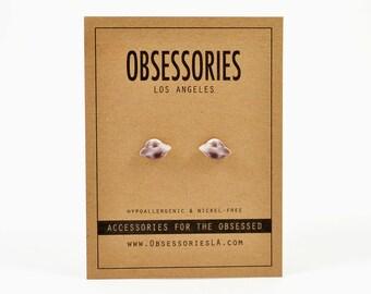 UFO Jewelry Alien Earrings Stud Earrings Alien Jewelry Accessories Flying Saucer Space Ship Space Craft Roswell Area 51 UFO Gift Alien Gift
