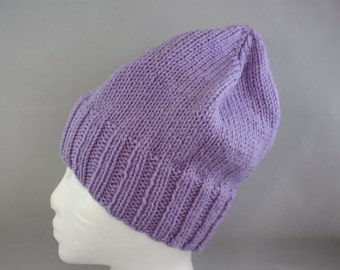 hats, lavender hats, woman's hat, women's hats, hand knit hats, knit hats, stretchy hats
