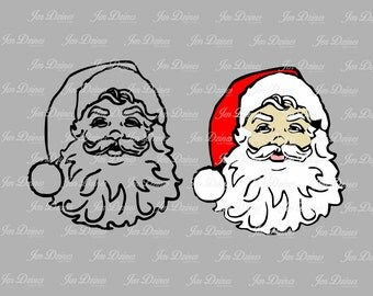 Santa Clause SVG DXF EPS, Santa svg,santa file, santa files, christmas svg, christmas files, svg for cricut, silhouette file, cutting files,