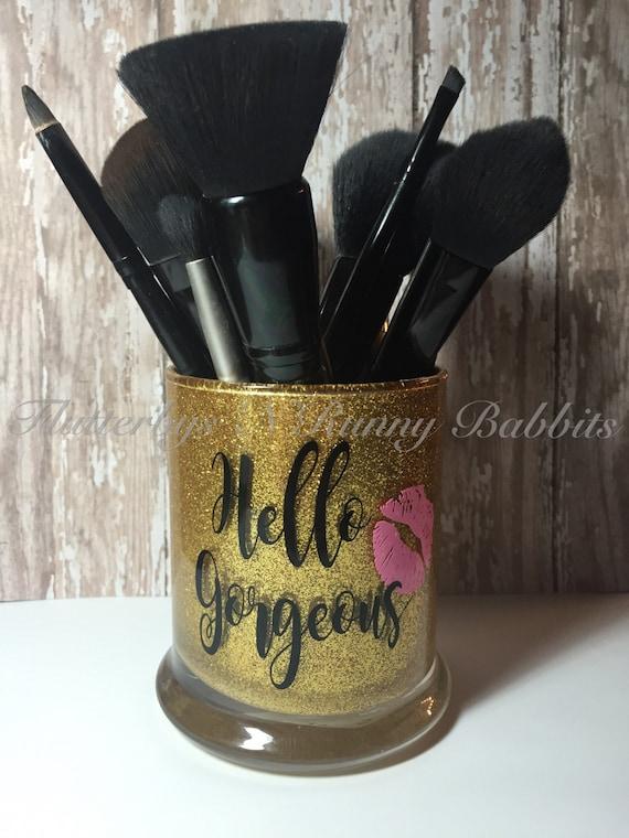 Custom glitter make up brush holder pen holder pencil holder