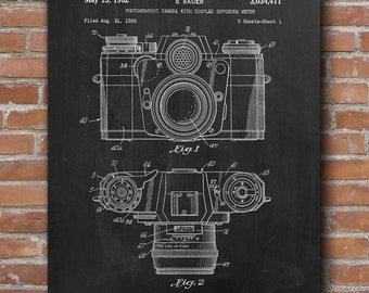Retro Camera Patent Print, Film Camera Patent, Photographer Gift, Home Decor, Patent Print - DA0443