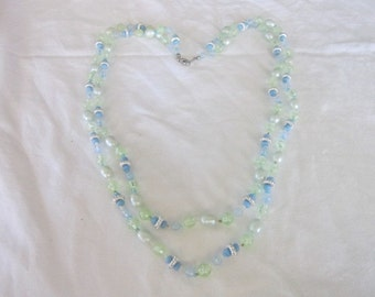 Vintage Fancy Double Strand Beaded Necklace