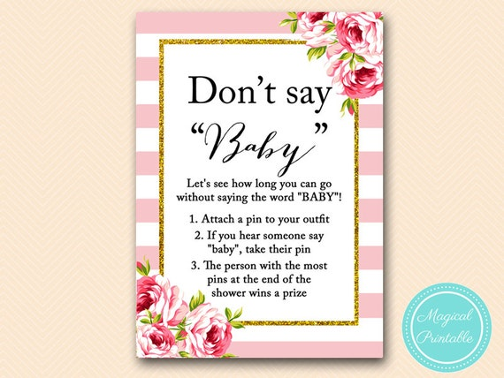 It is a photo of Unforgettable Don't Say Baby Printable