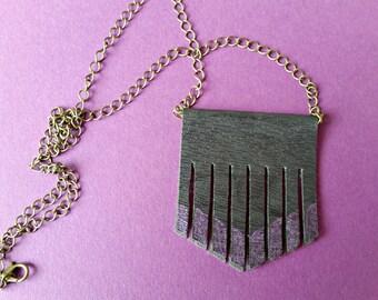 Faux Leather Purple Necklace, Vegan Leather, Bib necklace, leather tassel, Fringe jewellery, bohemian, leather necklace, hippie necklace