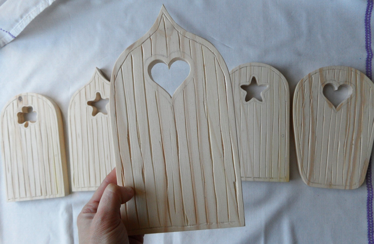 5 styles wooden fairy elf door craft plain blank ready to for Wooden fairy doors to decorate