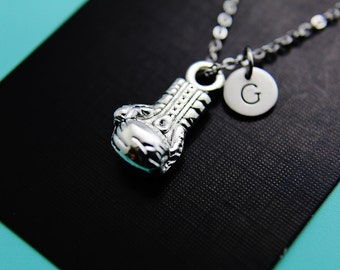 Gloves Necklace, Silver Boxing Gloves Pendant Necklace, Personalized Jewelry, Christmas Necklace, Holiday Jewelry