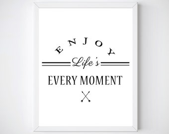 Inspiring Quotes, PRINTABLE, Inspiring Quote Wall Art,  Life Quote Wall Art,  Above Bed Art, Inspirational Quote,  Minimalist Poster