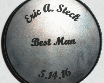 HOCKEY PUCK - Personalized, Custom Engraved! Great for wedding parties, special events, company promotions...
