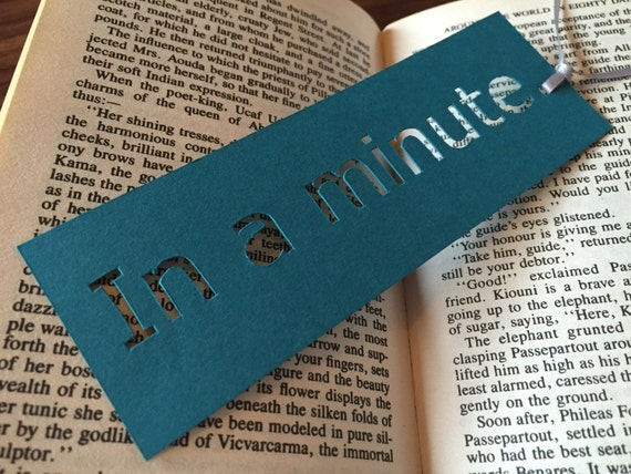 Bookmark, Unique bookmark, In a minute, Bookworm gifts, Book lover gift, Coworker gift, Stocking fillers, Librarian gifts, Book accessories