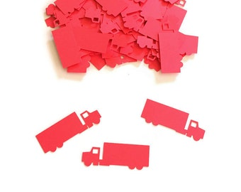 Semi Truck Birthday - Tractor Trailer Birthday Party - Trucker Birthday Party - Truck Party Confetti - 18 Wheeler Truck Party - Construction