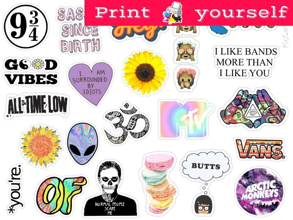 It is a photo of Unusual Printable Stickers Tumblr