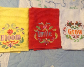 Set of three towels