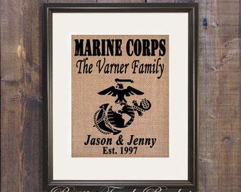 Marine wife, Marine sign, Marine Corps Sends Us, Custom Military gift, Military gift, Marine Corps decor, Marines gift, Military sign, Gift