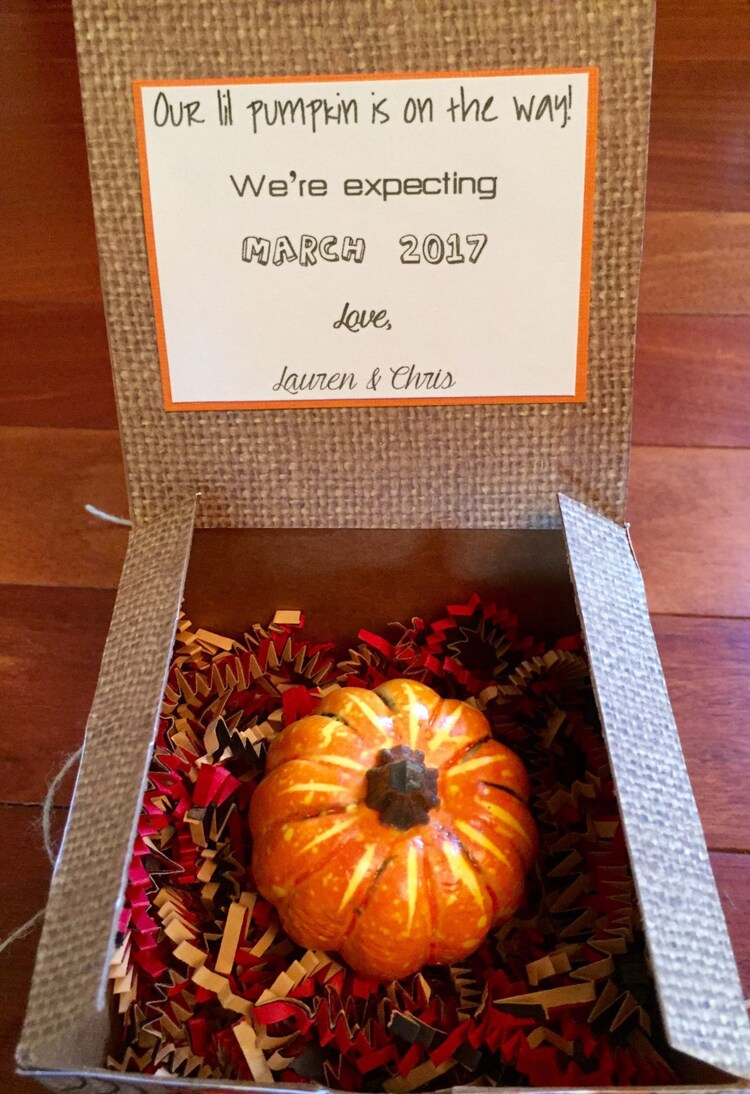 our lil pumpkin pregnancy reveal surprise box fall by