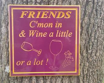 Wine Sign Wine Wall Art Kitchen Wall Decor KItchen Sign Lovers Art Wood Wine Sign