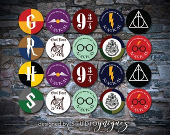 Harry Potter Printable Cupcake Toppers or Favor Tags