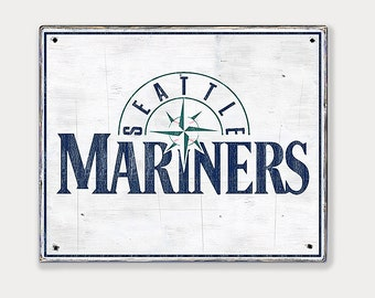 Seattle Mariners - Distressed Rustic Wood sign - Mariners baseball fan gift - Seattle Sports Bar - Man Cave decor - Fathers Day gift for Dad