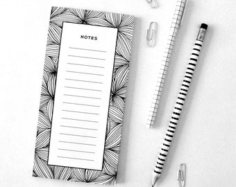Notepad, Magnetic notes, Shopping list, Fridge magnets, Floral print, Gift ideas
