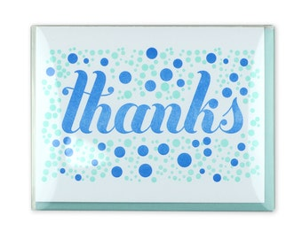 Thanks Letterpress Box Set of 5 Cards // Thank You Card // Dots