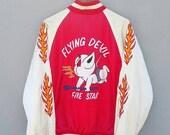 Sale jun Sale 27% Sukajan japanese toyo yokosuka Devil Tokyo Red embroidery embroidered Satin souvenirs bomber tedman Large Jacket