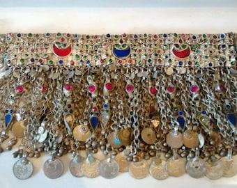 vintage rajasthani indian jewelled wedding necklace/collar