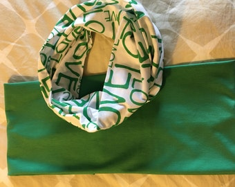 Green Love Infinity Scarf