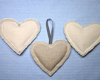 Lavender Scented Heart Shaped Sachets and Pocket Warmers